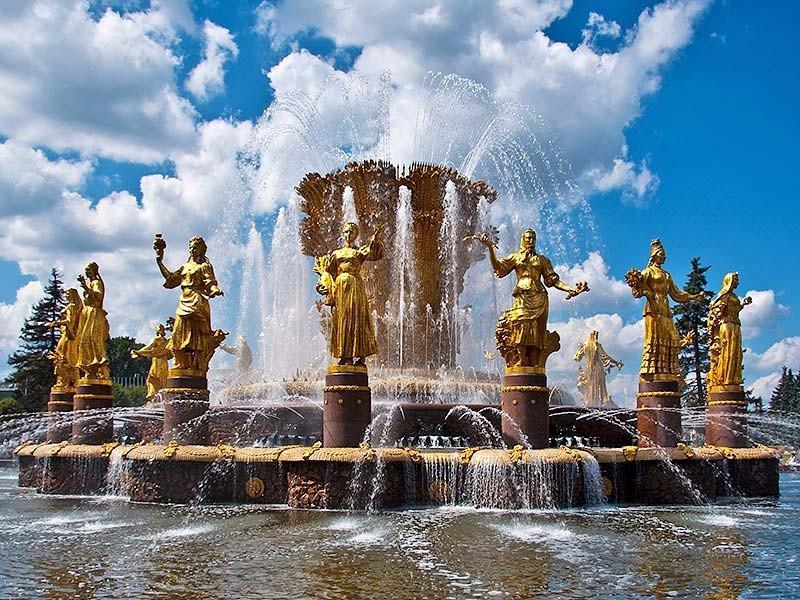民族友谊喷泉国民经济成就展览馆