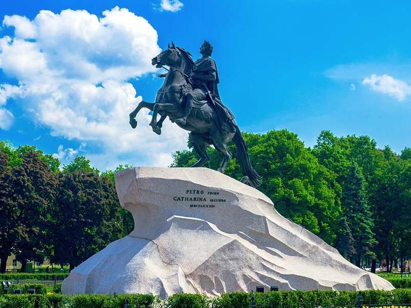 纪念碑彼得·1在俄罗斯圣彼得堡